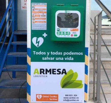 ARMESA Logística incorpora desfibriladores en sus instalaciones